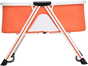 XJJUN-Rocking crib Mosquito Net Multifunction Foldable Suitable For Swinging Neonatal Need Install Small Volume 3 Colors  Color Orange