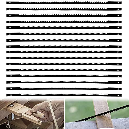 Hinata 16 hojas de sierra de desplazamiento fijadas, 10/15/18/24 dientes hojas de sierra de desplazamiento con dientes en espiral para carpintería de plástico/espuma/metales blandos