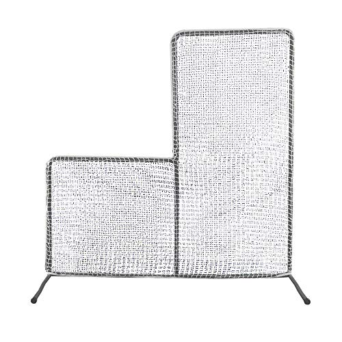 Kapler L Screen,Baseball & Softball Pitching Screen, 7 x 7Ft Pitcher Safety Protective Screen with High-strenghth Steel Frame and Netting.