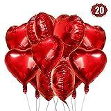 Rot /& Wei/ß Herzluftballons 12 Zoll f/ür Hochzeit Verlobung Valentinstag Sinwind Herzluftballons 100 St/ück Premium Herz Luftballons Rot Wei/ß Latex Herz Ballon