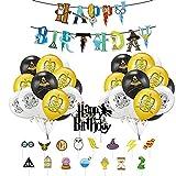 Palloncini Festa Compleanno Harry Potter Palloncino Striscioni Buon Compleanno Wizard Decorazione Magiche Torta Decorazione Festa di Compleanno di Wizard