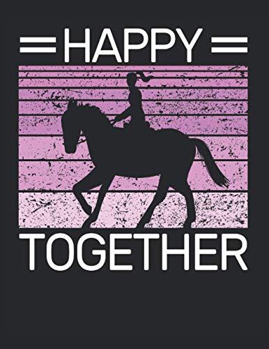 Happy Pferd Together Reiten Reiterin Reiter Reitsport Spruch: RÄTSELBUCH - Lustiges Retro Geburtstags Geschenk, Geschenkidee - A4 (8,5x11) - 101 ... Sketch, Planer, Geburtstag, Jahrgang, Spruch