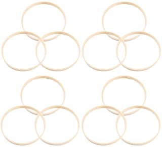 SUPVOX 12 st drömfångare ring 30 cm bambu ringar rund ring gör-det-själv hantverk drömfångare göra festival födelsedagspre...