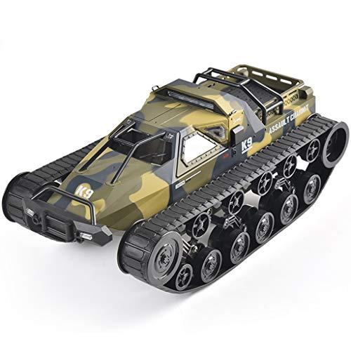 1/12 Crawler RC Off-Road Buggy Coche Control Remoto, 2.4Ghz Coche Teledirigido Camión Tanque Alta Velocidad Tanque Ejército Puerta Deriva Gaviota para Niños Adultos