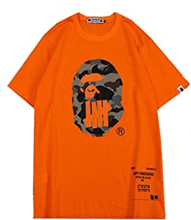 Fashion Bape Camo Printed Cotton Loose Crew Neck T-Shirt for Men/Women
