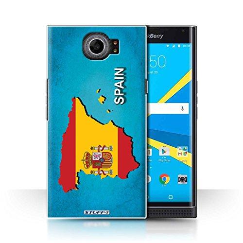 Stuff4 Carcasa/Funda Dura para el Blackberry Priv/Serie: Naciones Bandera - España Español