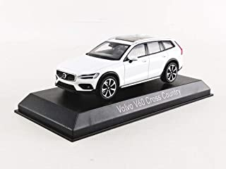 Norev 870026 kompatibel mit Volvo V60 Cross Country Weiss 2019 Maßstab 1:43 Modellauto