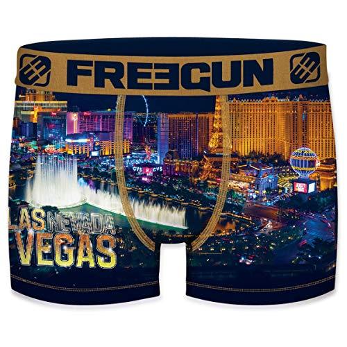 Freegun Herren Boxershorts USA & Las Vegas aus Mikrofaser – Auswahl der Modelle je nach Verfügbarkeit Gr. S, Pokal