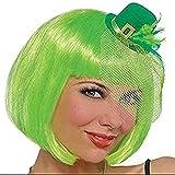 "Amscan Feather Leprechaun Mini Top Hat St. Patrick's Day Hair Clip, 4.5"" x 2.25"", Green"