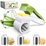 Mastertop 3 in 1 Manual Rotary Cheese Grater Kitchen Shredder Mini Vegetable Chopper with Stainless Steel Drum