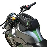 CARACHOME Gepaeck Magnetisch Schwarz,Motorrad Tankrucksack Mit GPS-/Handyfach,Motorrad Tasche Für...