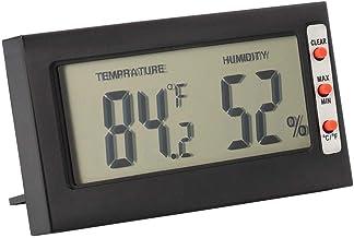 banapo Monitor de medidor de Humedad Interior, 3.54x1.97x0.39in Termómetro Interior 2 en 1 de Alta precisión, Ligero para Oficina en casa