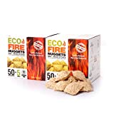 Eco Fire Lightning - Fire Starters for Fireplace, Camping, Wood Stoves, Fire Pits, Smokers & Pizza Oven - Fire Starters Nuggets - 110 Pieces