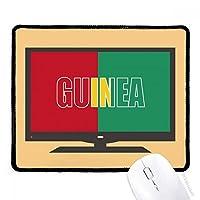 ギニアの国の旗の名 マウスパッド・ノンスリップゴムパッドのゲーム事務所