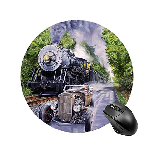 Round Mouse Pad Backwoods Duel Mousepad with Non-Slip Rubber Base Mouse Mat for Laptop, Computer 8 Inch