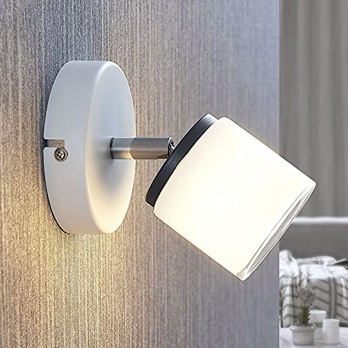 Lampenwelt LED Deckenlampe 'Futura' (Modern) in Weiß aus Metall u.a. für Wohnzimmer & Esszimmer (1 flammig, A, inkl. Leuchtmittel) - Deckenleuchte, Wandleuchte, Strahler, Spot, Lampe, Wohnzimmerlampe