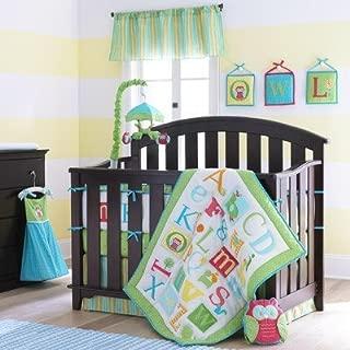 Owlphabet 4 Piece Crib Bedding Set Color: Sage