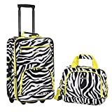 Rockland Fashion Softside Upright Luggage Set, Lime Zebra, 2-Piece (14/20)