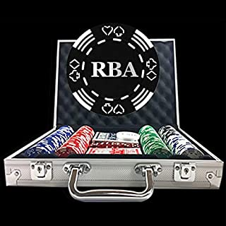 300 Holiday Custom Poker Chip Set - Full Name, Initials or Any Custom Text - Suited Poker Chips