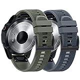 ANBEST Correa de silicona para Fenix 6X/Fenix 6X Pro/Fenix 5X/Fenix 5X Plus Pulsera con cierre rápido, correa de repuesto suave para Garmin Fenix 3/Fenix 3 HR/Quatix 3/D2 Delta PX Smart Watch