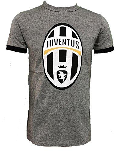 Perseo Maglietta Bambino Ragazzo Calcio Abbigliamento T-Shirt PS 26965 Logo Storico-6 Anni-Grigio