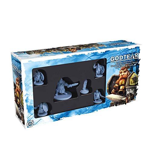 GodTear Rhodri, Thane de los abandonados sostiene el Juego de campeones (Steamforged Games SFGT-003)