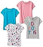 Spotted Zebra Girls' Kids Short-Sleeve T-Shirts, 4-Pack Candy, Medium