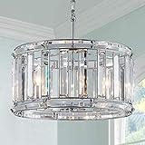 Lampadario moderno del tamburo di cristallo Lampada di soffitto della lampada di illuminazione del soffitto Sala da pranzo Stanza da letto del bagno Soggiorno 4 Lampadine E14 Richiesto