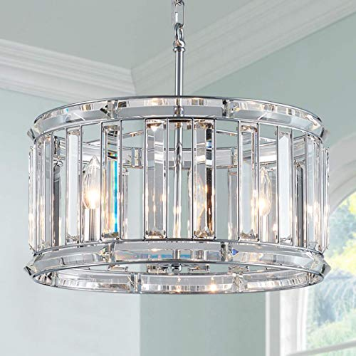 Bestier Moderno colgante de cristal tambor araña iluminación lámpara de techo lámpara...
