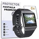 REY 6X Protector de Pantalla para Fitbit Ionic