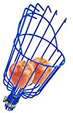 Home-X Fruit Picker Basket, Apple Picking Harvester, Tree Fruit Tool with Cushion, Orchard Picking Basket, Add You Own Pole, 13 ½' L x 6' W x 6' H, Blue