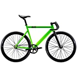 State Bicycle Black Label 6061 Aluminum Fixed Gear Bike, Zombie Green, 52cm