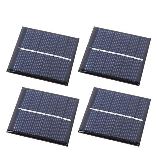 4Pcs 3V 168mA Panel Solar Cargador portátil al Aire Libre Fuente de alimentación portátil Panel de Carga Solar para Acampar