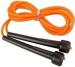 حبل قفز بمقابض بلاستيك للياقة البدنية والنادي الرياضي وتمارين يوغا والملاكمة، برتقالي، فتنس وورلد