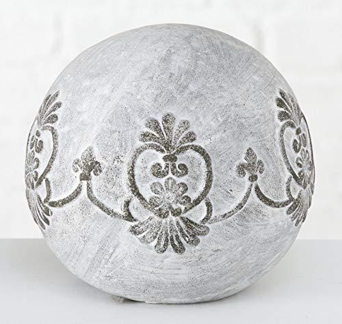 Homestyle & more Rosina Boule décorative en terre cuite Gris/blanc