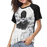Nf Rapper Baseball Tee for Womens Crewneck Baseball Shirt Soft and Comfortable Sleeve Baseball Top Black