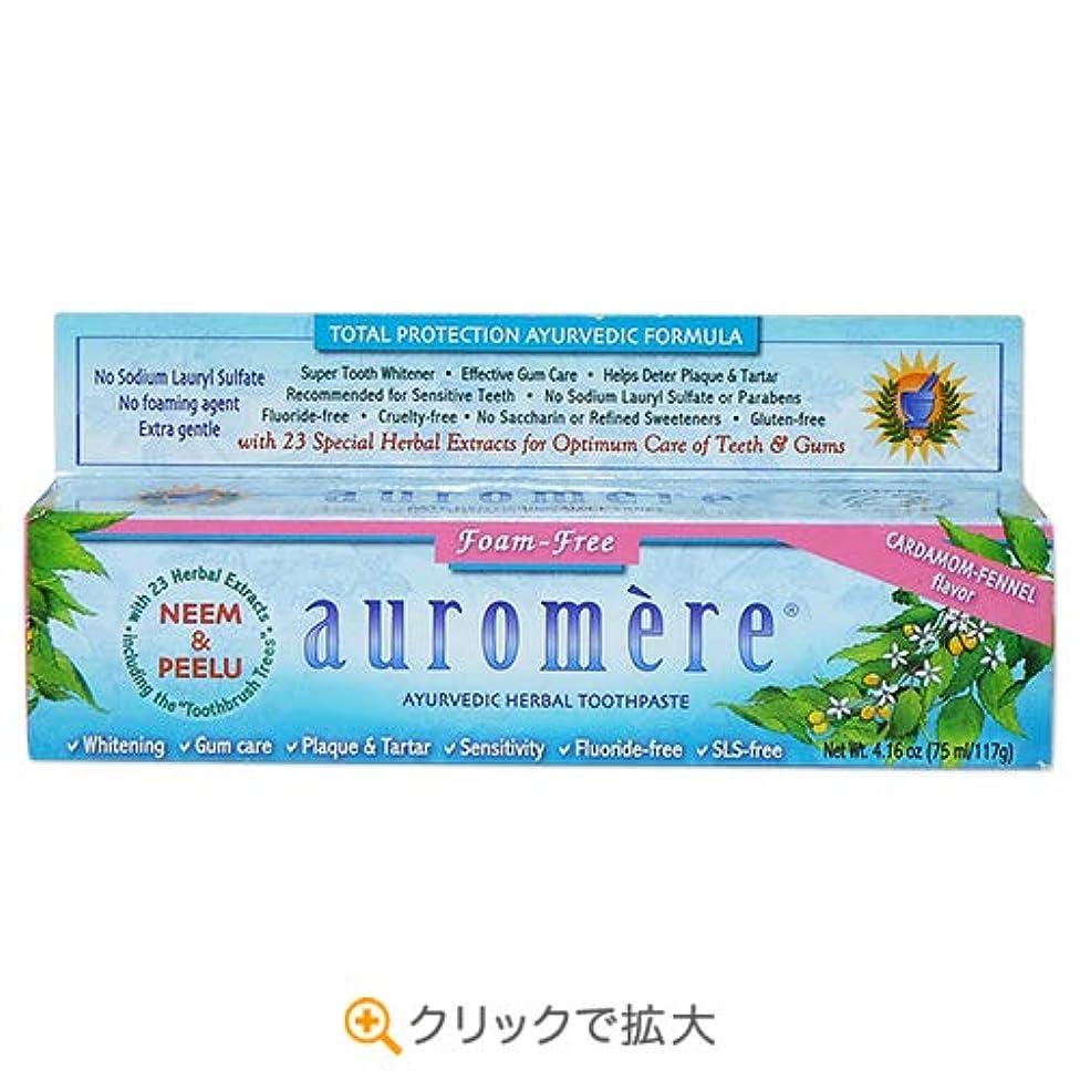 迷信分離満了3個セット オーロメア アーユルヴェーダ ハーバル歯磨き粉 フォームフリー 117g[海外直送品]