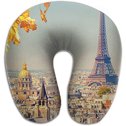 Reizen Kussen,Frankrijk Parijs Eiffeltoren Reizen Multifunctionele U Vorm Kussens voor Trein Vliegtuig Slapen