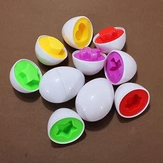 Dcolor 12 Pares de Huevo Capsula Inteligente para Bebes/Ninos Estudio de Color Forma