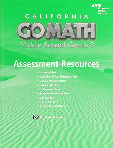 Holt Mcdougal Go Math California Assessment Resource With Answers Grade 8