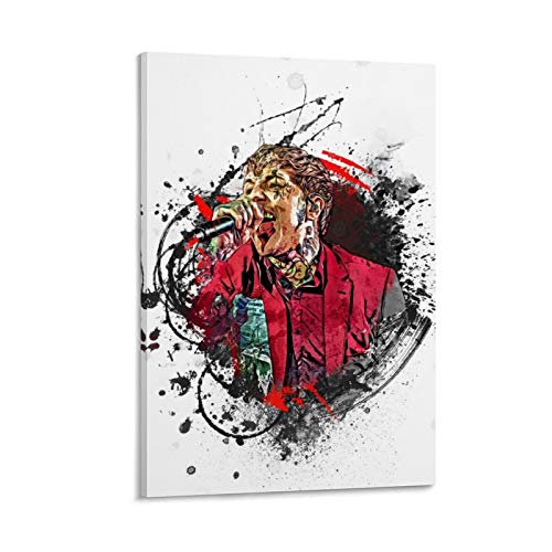 GSSL Abstrakte Musik Splash Celebrity Sänger Oliver Sykes Bmth Poster Dekorative Malerei Leinwand Wandkunst Wohnzimmer Poster Schlafzimmer Gemälde 40 x 60 cm