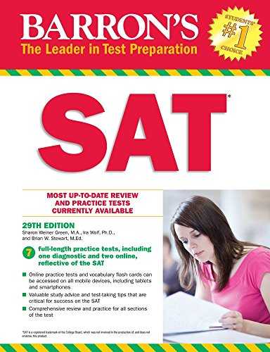 Barron's SAT, 29th Edition: with Bonus Online Tests (Barron's Test Prep)