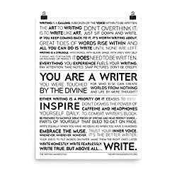 Gifts for authors Writer Manifesto print