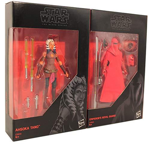 Star-Wars - The Black Series 2er Pack 9,5 cm Actionfiguren zum Film, für Jungen, Mädchen und Fans (Royal Guard und Ahsoka Tano)