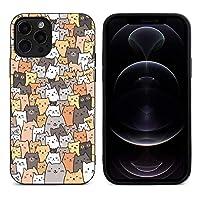 猫 iPhone 12Pro 携帯電話ケースと互換性がありますiPhone 12Pro用に特別に設計された超薄型TPUフレキシブルジェルラバーケースで、耐衝撃性の全身保護を備えています
