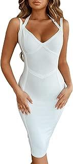 Club V Neck Strappy Halter Party Bodycon Bandage Dress