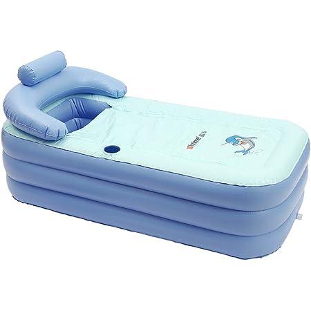 Baignoire gonflable en PVC pliable pour adulte - Baignoire portable - Baignoire pour la maison et le voyage