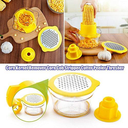 Corn Thresher,Corn Kernel Remover Corn Cob Stripper Cutter Peeler Thresher Slicer Shaver Tool
