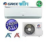 climatiseur mono split gree lomo 6,7 kw inverter 24000 btu wi-fi r32