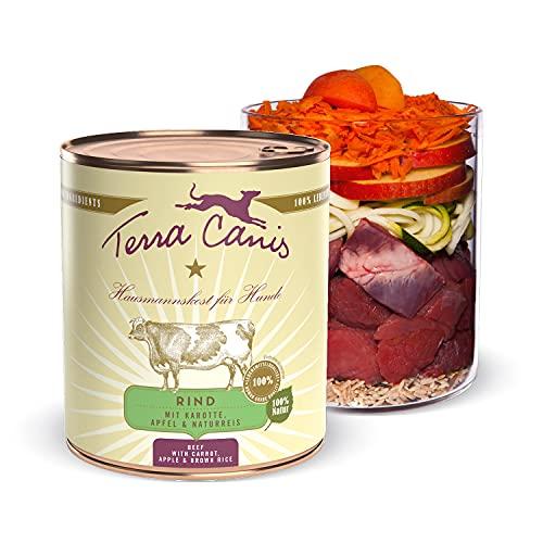 Terra Canis Manzo, carota & riso integrale - Alimento umido Classic, 800g I Alimento premium per cani con ingredienti di autentica qualità human-grade al 100% I ipoallergenico & gluten-free